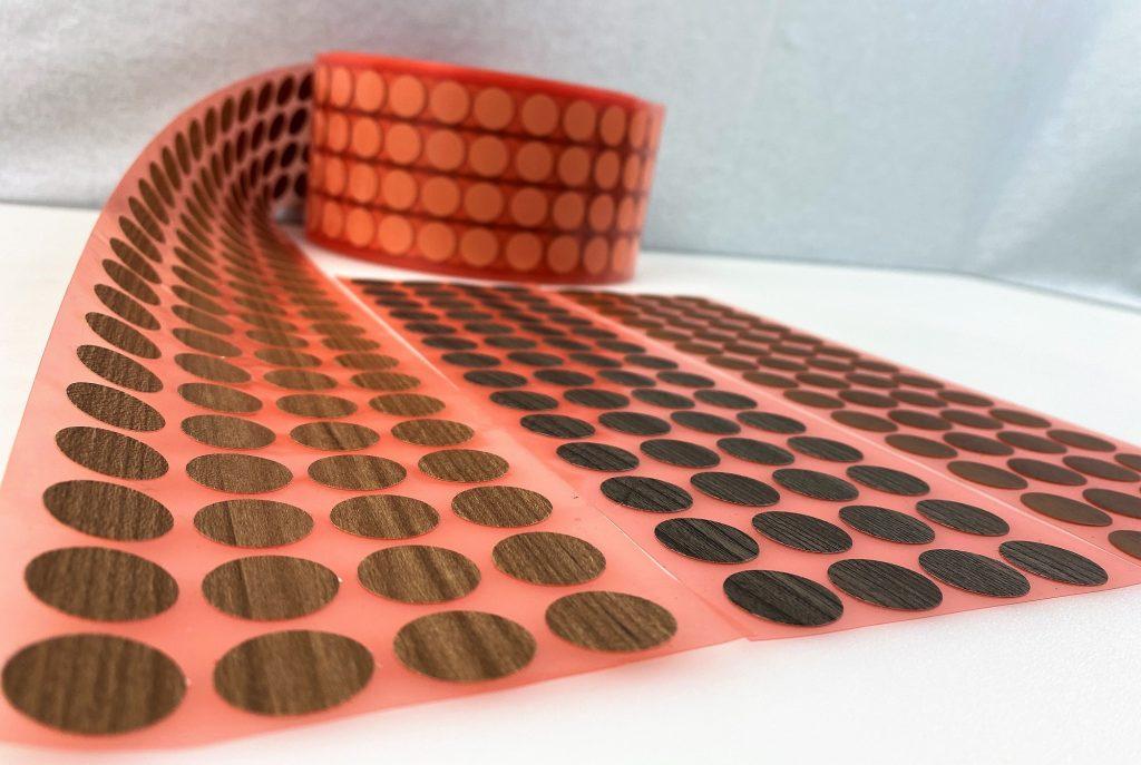CoverCaps-Wood Grain Cellulose Screw Covers