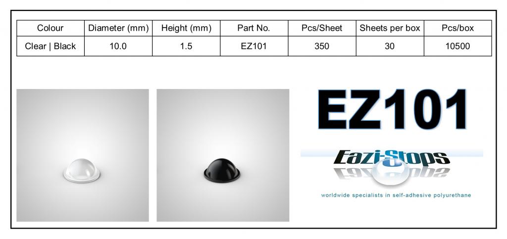 EZ101 - Bumper Feet - Cylindrical