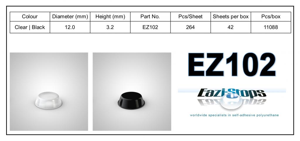 EZ102 - Bumper Feet - Cylindrical