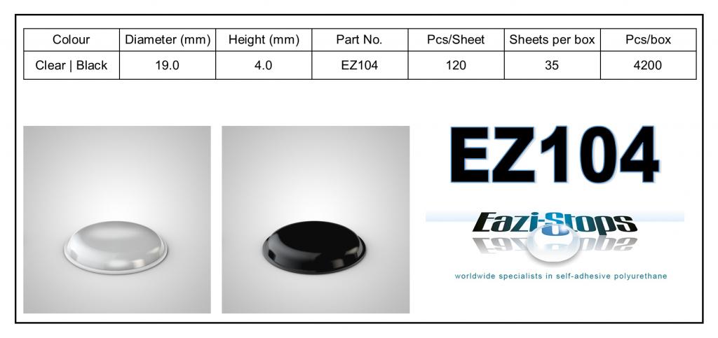 EZ104 - Bumper Feet - Cylindrical