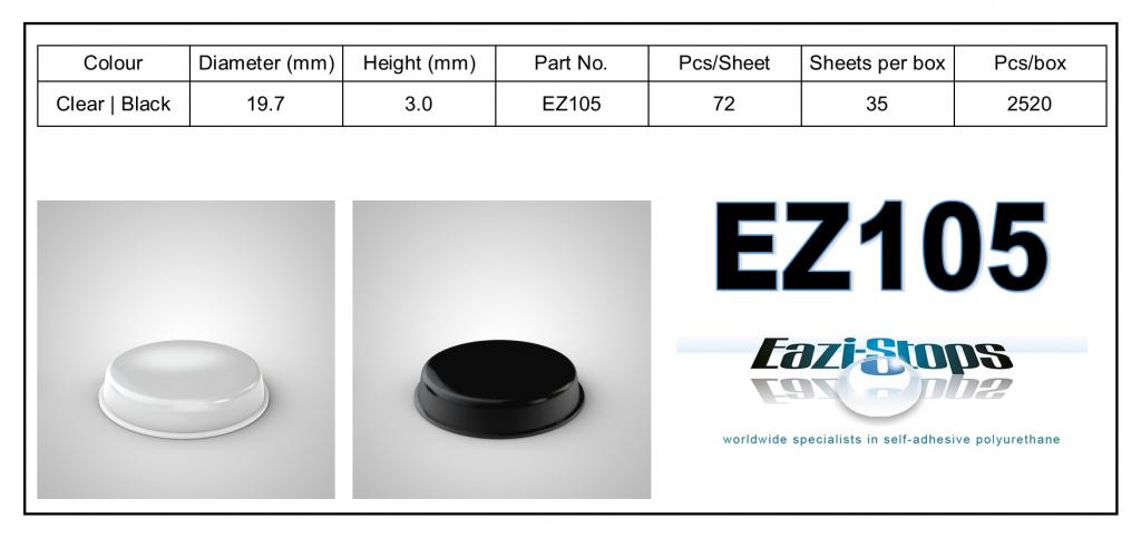EZ105 - Bumper Feet - Cylindrical