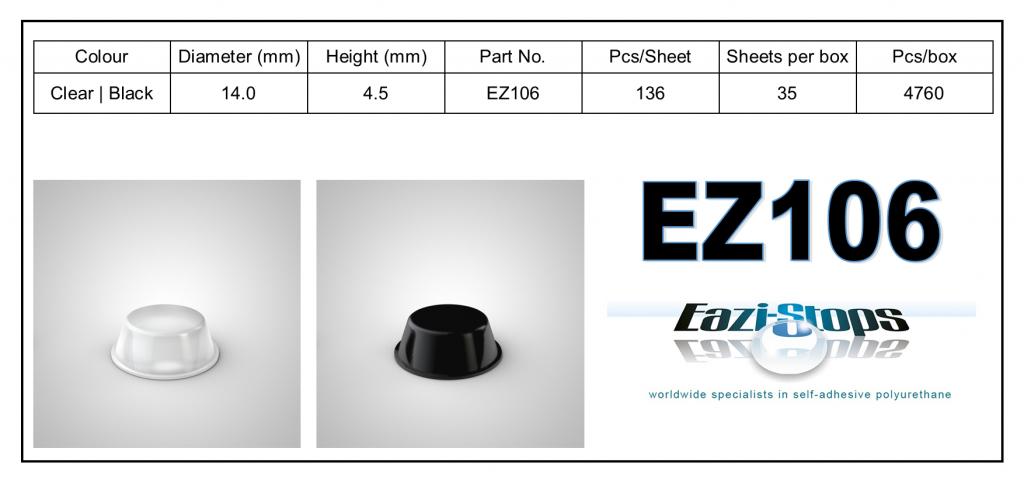 EZ106 - Bumper Feet - Cylindrical