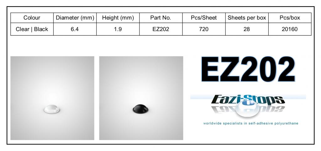 EZ202 - Bumper Feet – Hemispherical