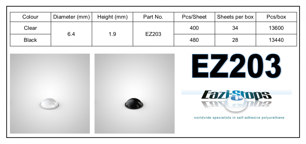 EZ203 - Bumper Feet – Hemispherical