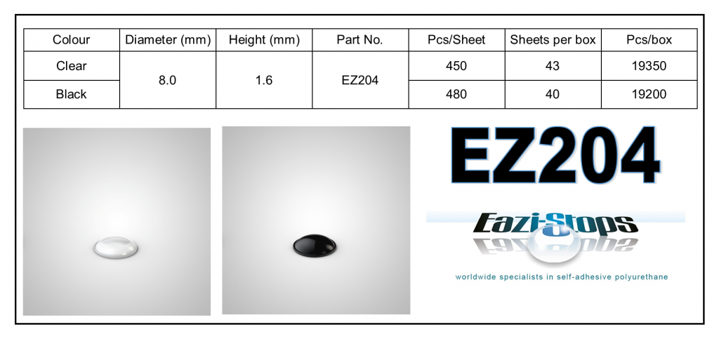 EZ204 - Bumper Feet – Hemispherical