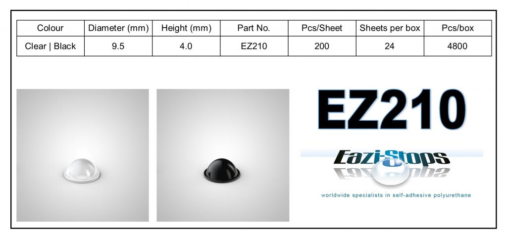 EZ210 - Bumper Feet – Hemispherical