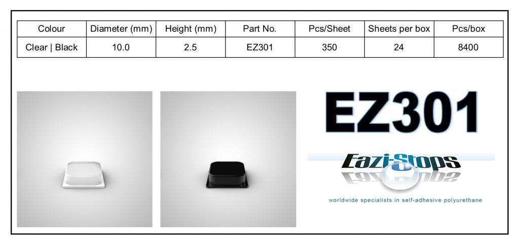 EZ301 - Bumper Feet – Square