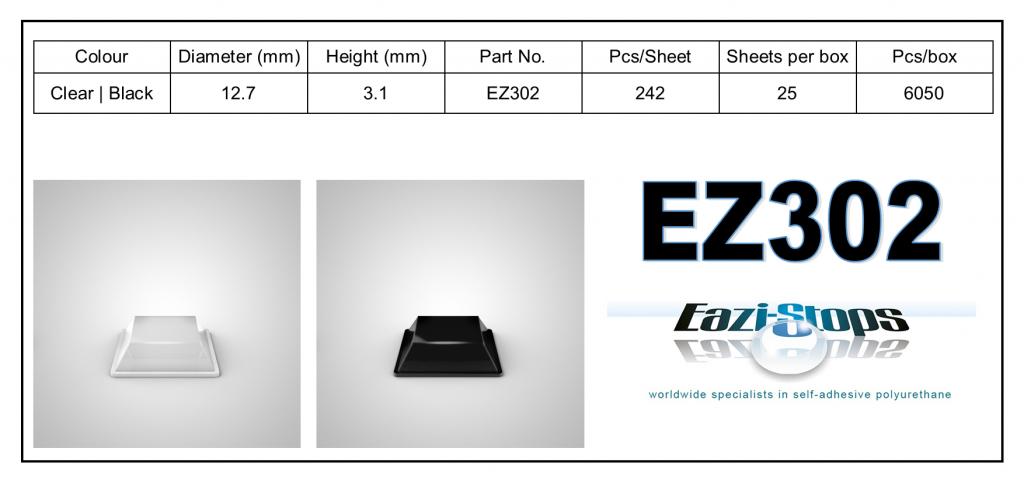 EZ302 - Bumper Feet – Square