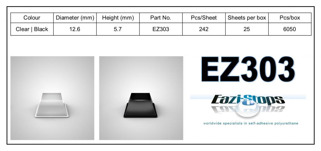 EZ303 - Bumper Feet – Square
