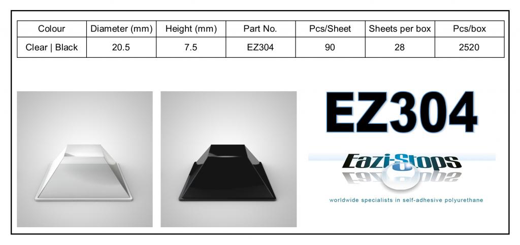 EZ304 - Bumper Feet – Square