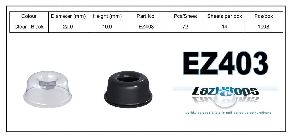 EZ403 - Bumper Feet – Hemispherical